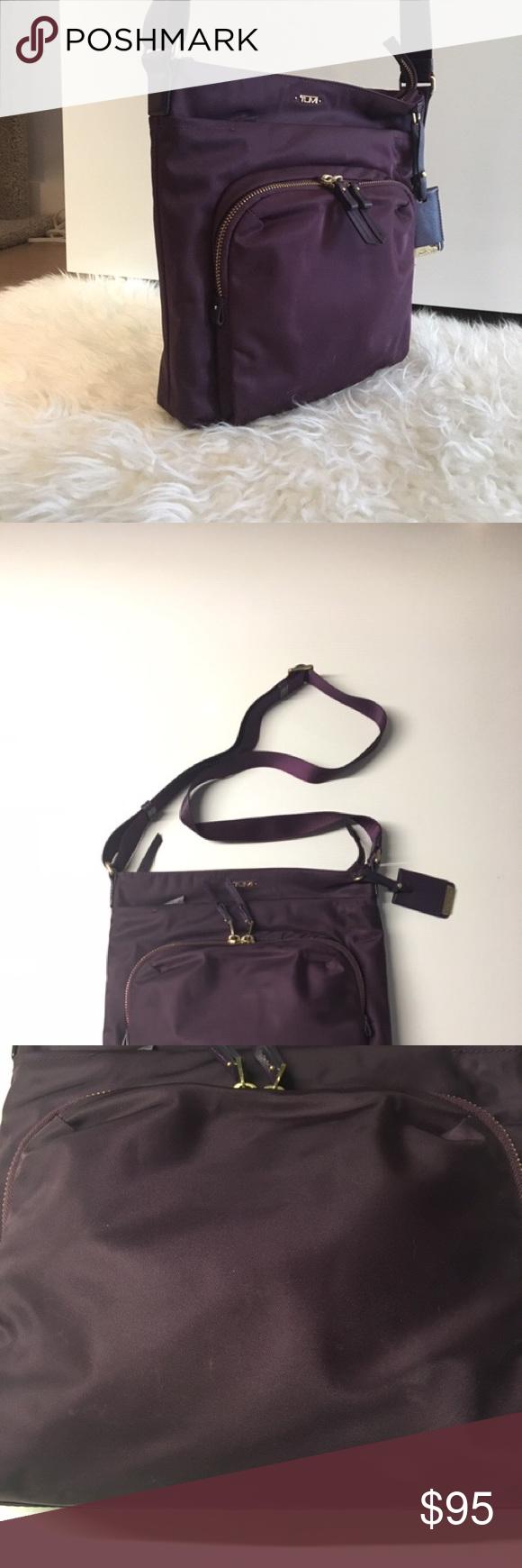 a7851108545a TUMI Voyager - Capri Nylon Crossbody Bag Violet Genuine TUMI cross body in  a gorgeous deep