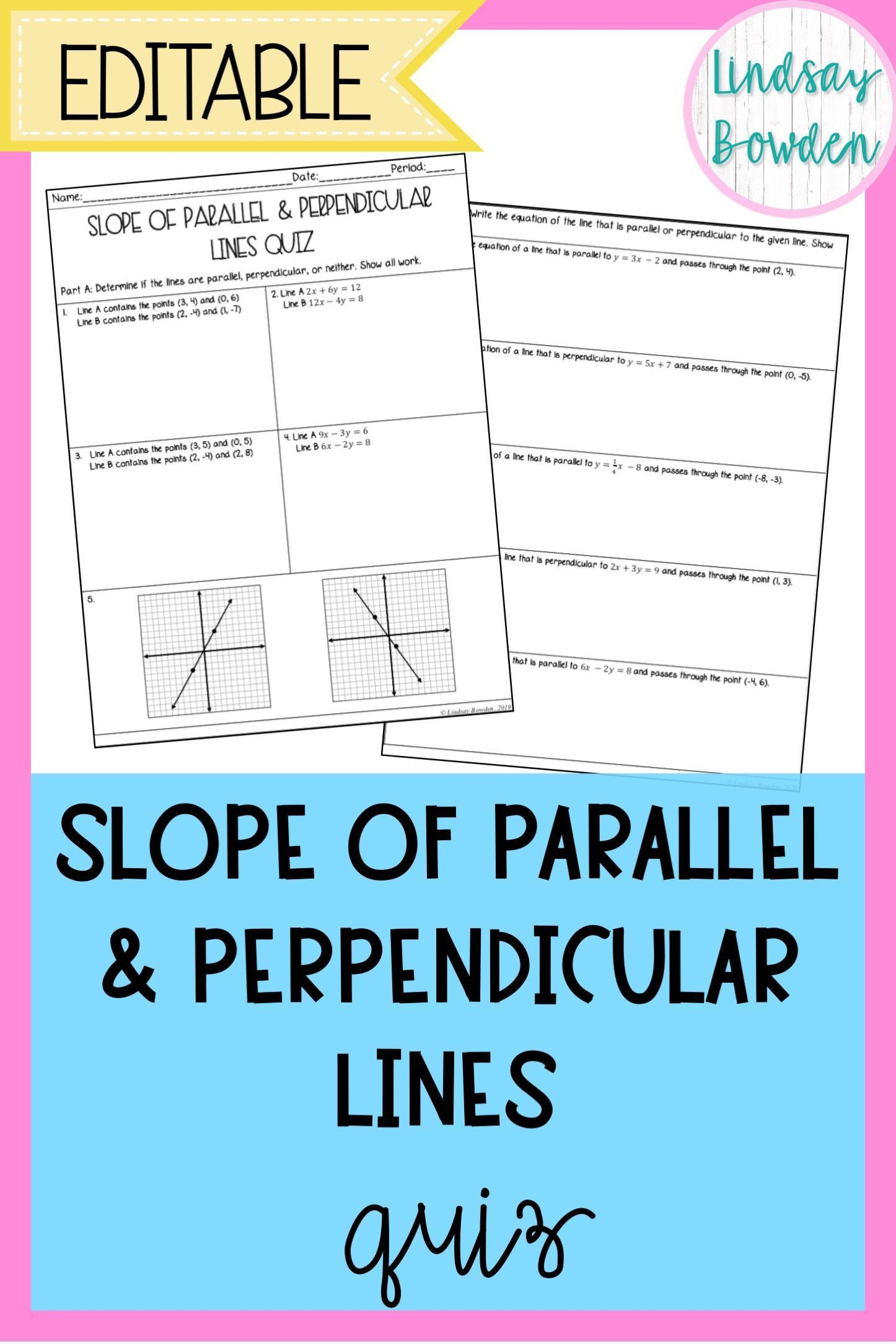 Parallel Perpendicular Or Neither Worksheet Parallel And Perpendicular Lines Geometry High School Phonics Worksheets Free