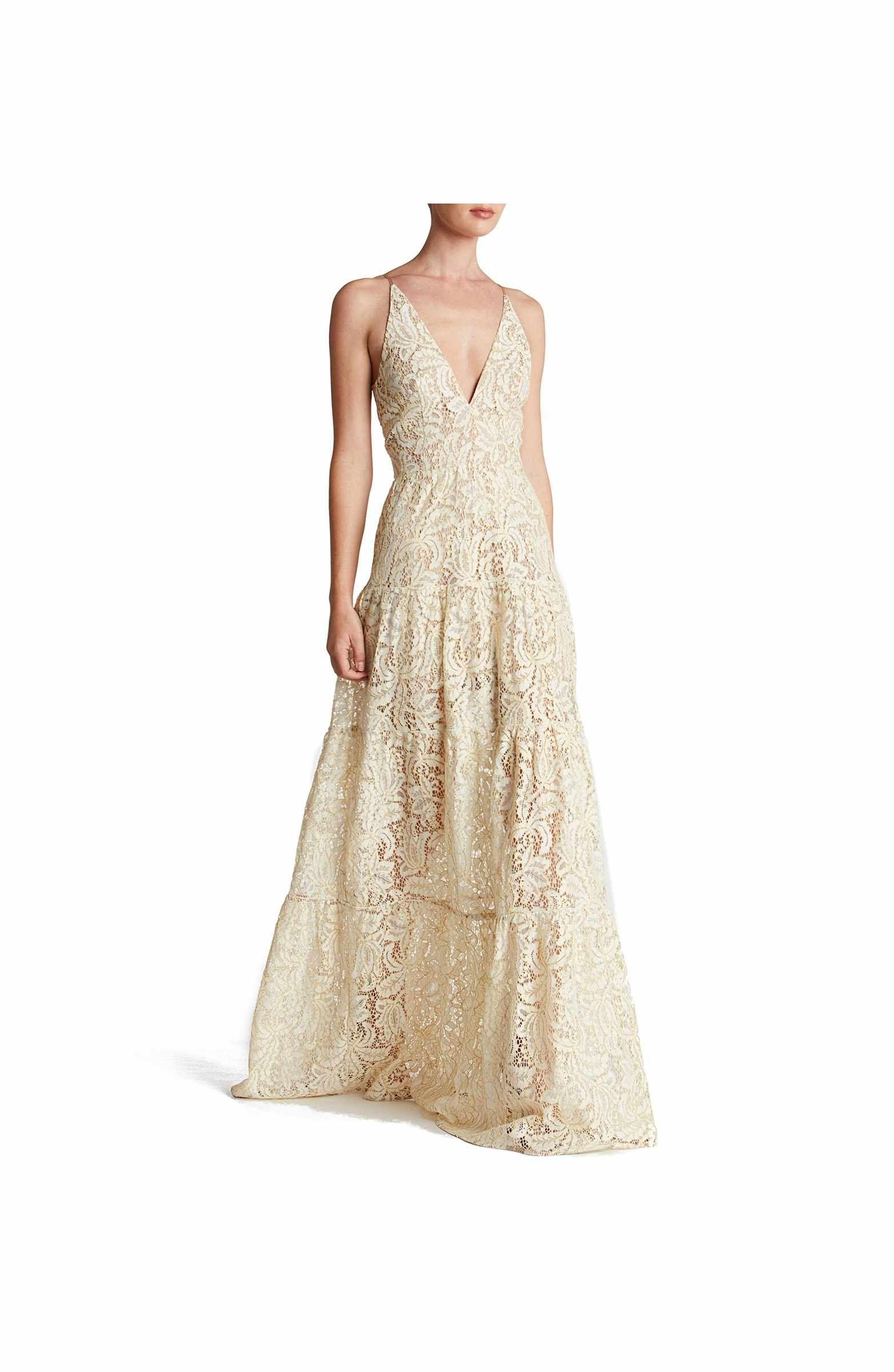 e18bc609cf Main Image - Dress the Population Melina Lace Fit & Flare Maxi Dress ...