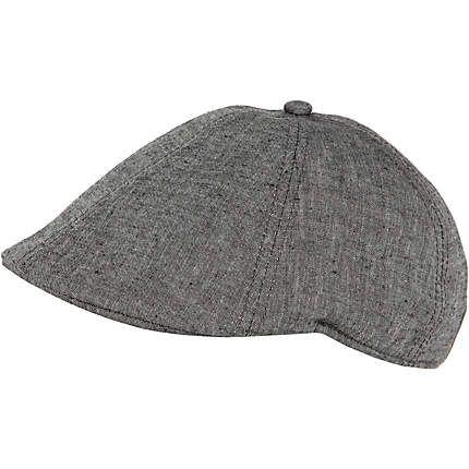 79aa91ac8f7c55 Grey chambray flat cap   Gifts and bits   River island fashion ...