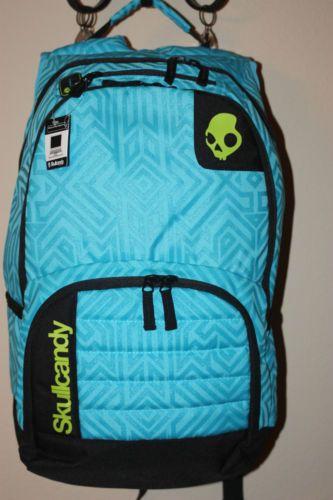 9d14c485d39 Skullcandy-backpack-cyan-blue-lime-book-bag-New-computer-holder ...