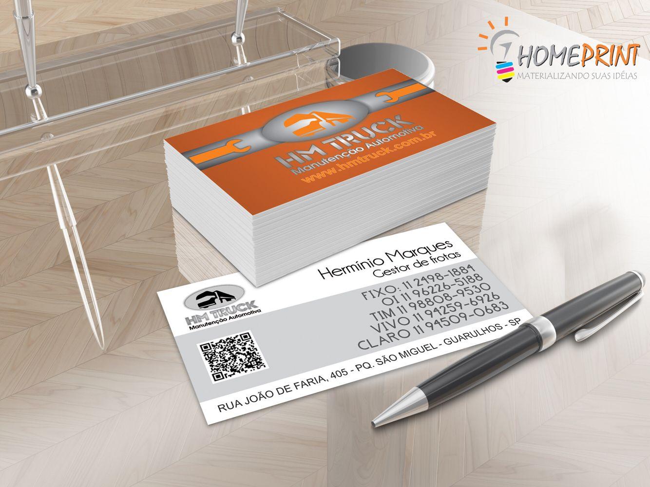 Cartão de visitas hmtruck
