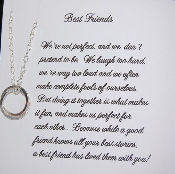 BEST FRIEND Necklace Bridesmaid Gift Friendship Sister Maid Of Honor Personalized