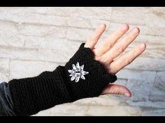Einfache Fingerlose Handschuhe Häkeln Armstulpen Häkeln Für