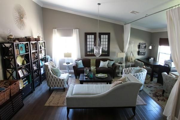 Formal Living Room with Office Nook - Living Room Designs ...