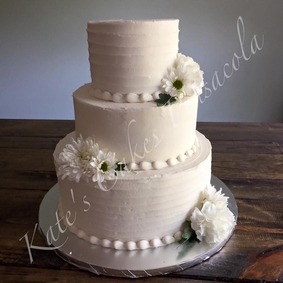 Simple Rustic Wedding Cake Pensacola Florida Kates Cakes