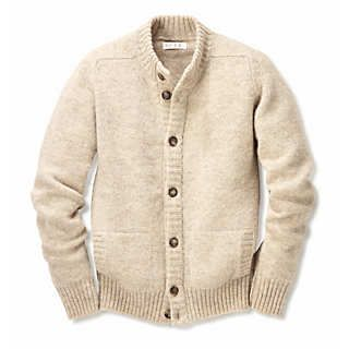 Men's Eribé Peerie Wool Knitted Jacket | Sweaters & Cardigans ...