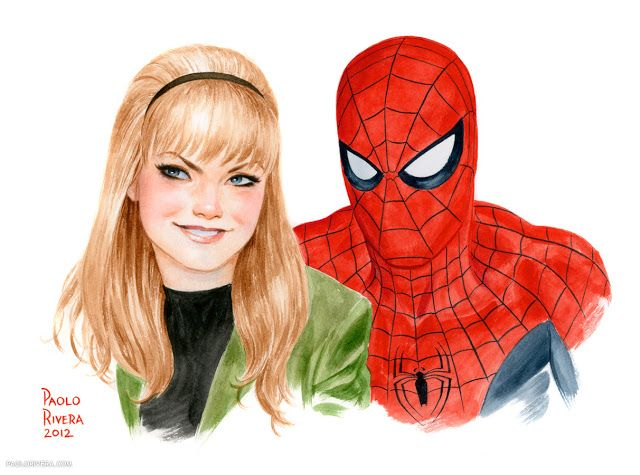 Gwen Stacey and Spider-Man by the incredible Paolo Rivera