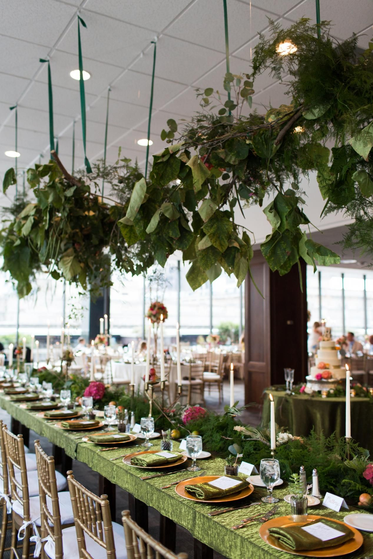 Green Tablescape Lush Table Design For A Earthy Wedding Lavish Greenery Decor Themed Weddingday Magazine