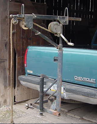 Trailer Hitch Classes >> Crane by Kbeitz -- Homemade crane fabricated from steel tubing. Features a hitch receiver mount ...