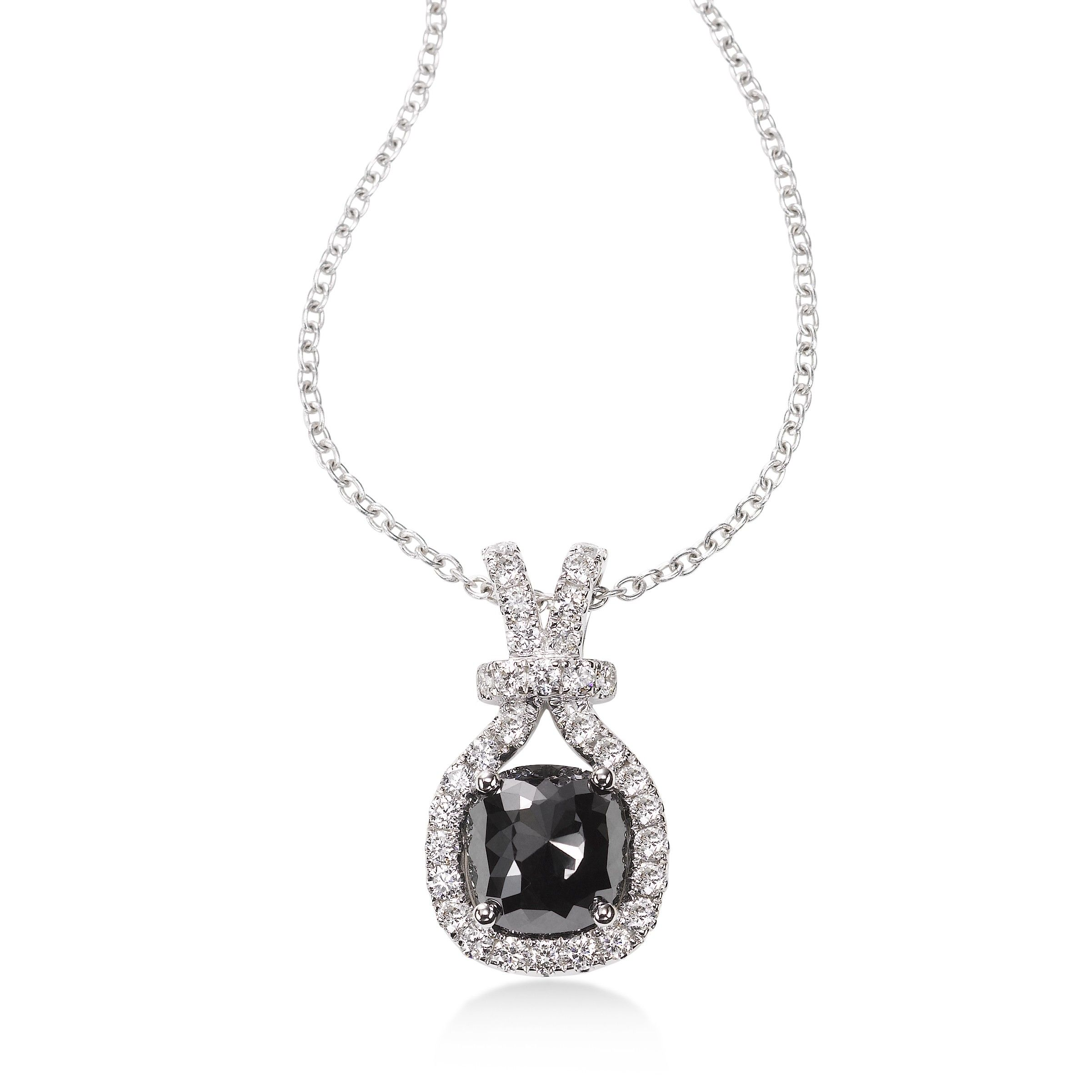 diamondsapphire cushion diamond cut necklace pendant all sapphire mmny n