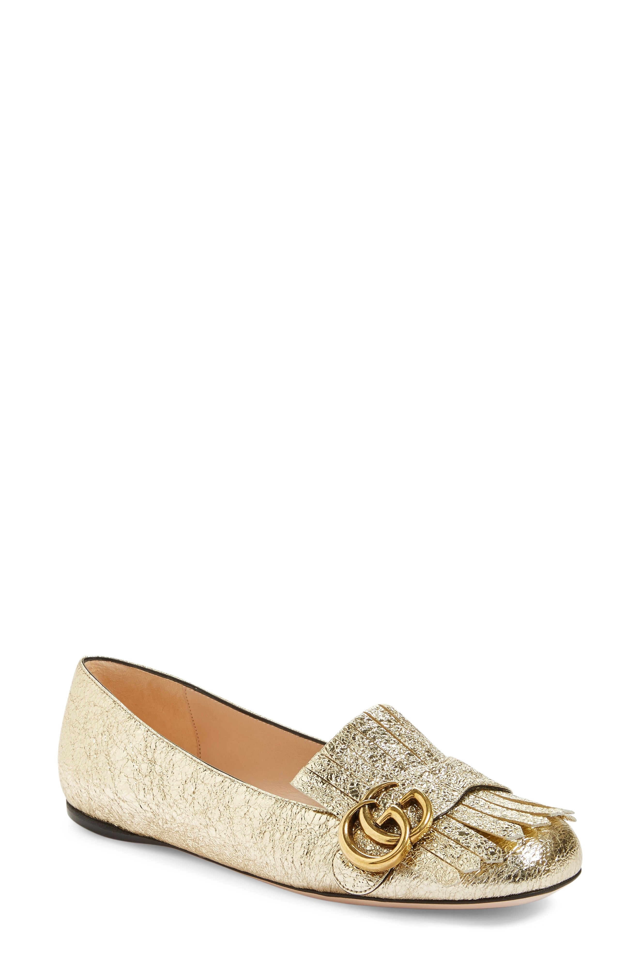b78eb04a977 Buy GUCCI GG Marmont Flat for shopping. New GUCCI Shoes.   730  SKU  XYBF59469WTON97017