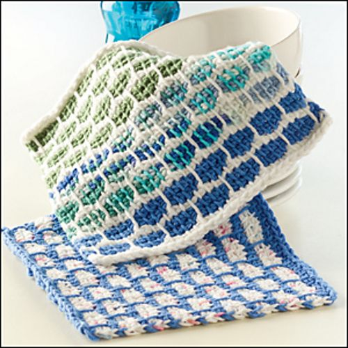 Tunisian Ball Band Dishcloth Pattern By Beth Graham Ravelry