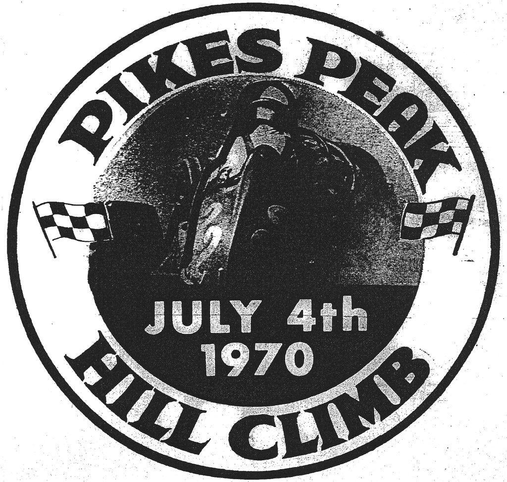 1970 Pikes Peak Hill Climb Logo With An Open Wheel