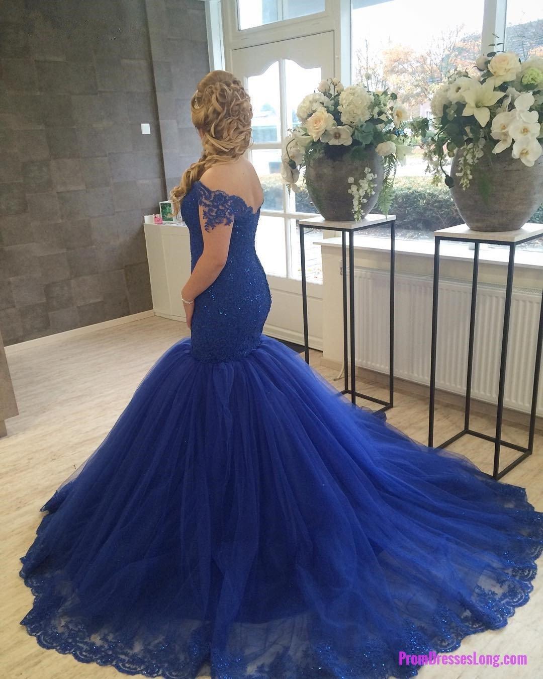New arrival prom dressmodest prom dressroyal blue prom dresses
