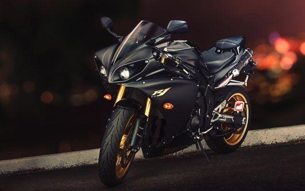 Yamaha YZF R1 Sport Bike Black Gold Wallpapers  | Yo's Motorcycles