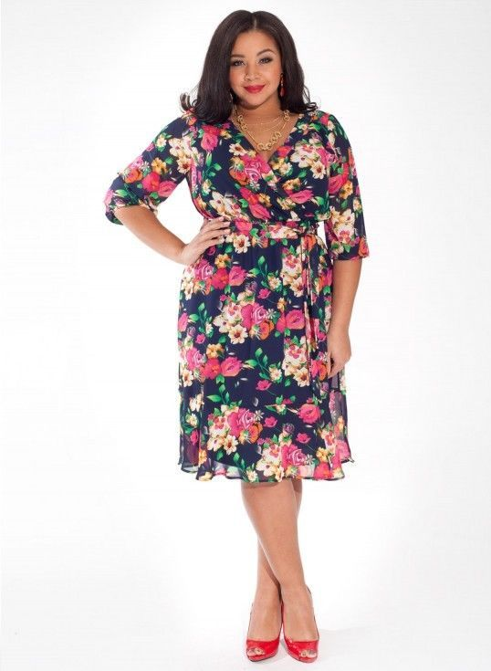 Igigi Dress Plus Size 3x 22 24 Nancy Style Floral Multi Colors