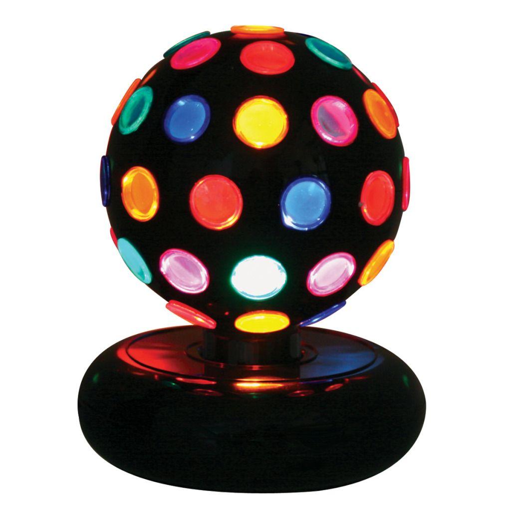 NEW 9u0027u0027 High Multi Colored Table Top Rotating Disco Ball Light/Lamp For  Teen/Kid