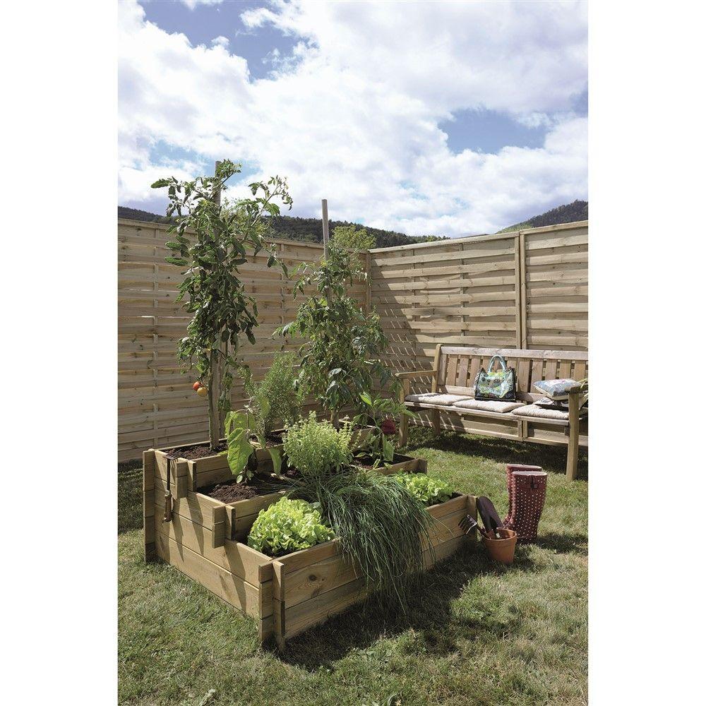 Potager 3 Etages Botanic carré potager 3 hauteurs up l1200 x p1000 x h540mm | potager