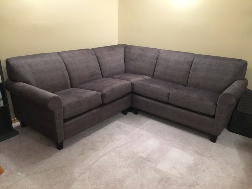 Grey Cloth Custom Made Sectional Couches Futons Edmonton Kijiji Sectional Sectional Sofa Couches Sectionals