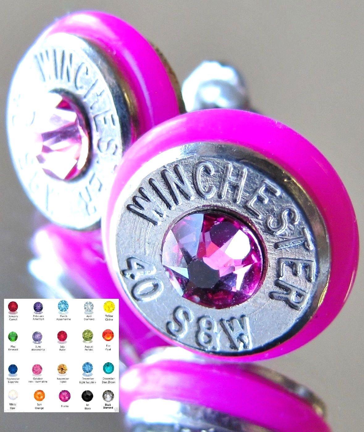 Blue camo wedding dresses   SuW Winchester Bullet Earrings Choice Swarovski Crystal Silver