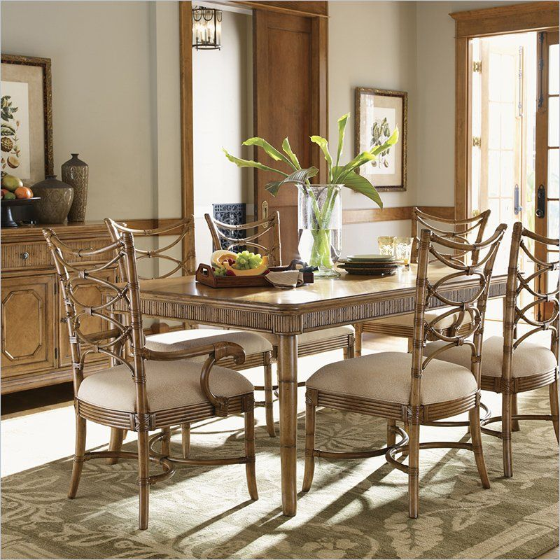 Beachy Dining Room Tables: Tommy Bahama Style Dining Room