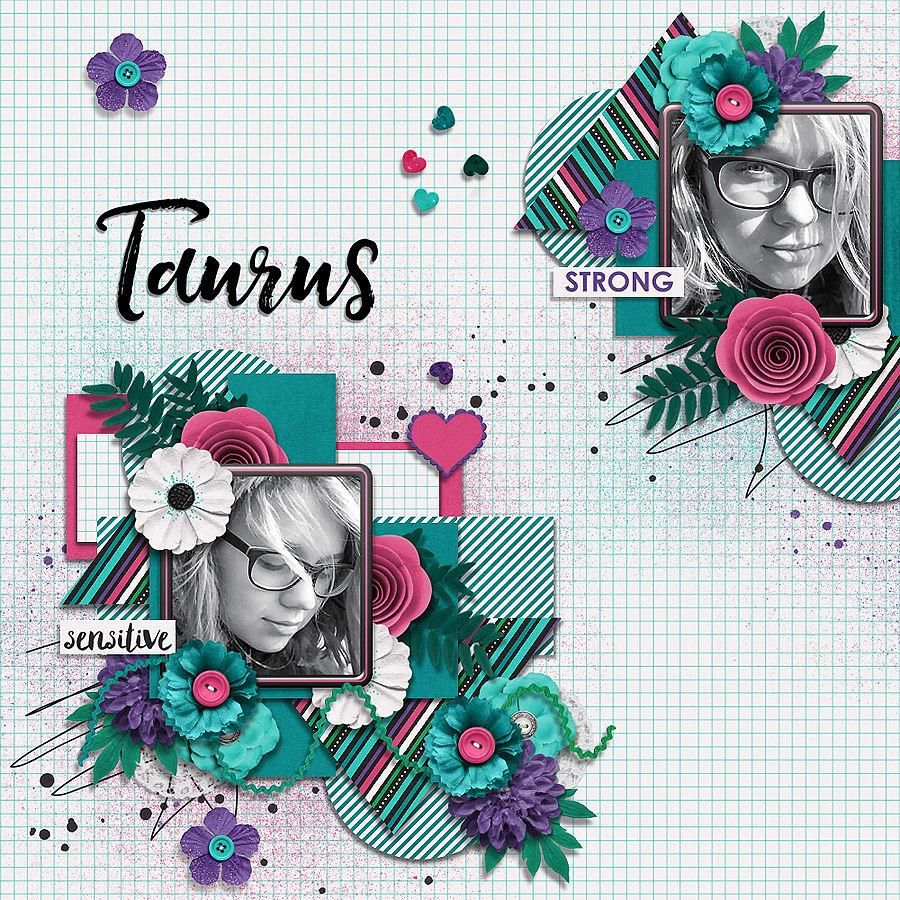 Just Because Templates by Miss Mel. Layout by Conny. #digitalscrapbooking #layout #inspiration
