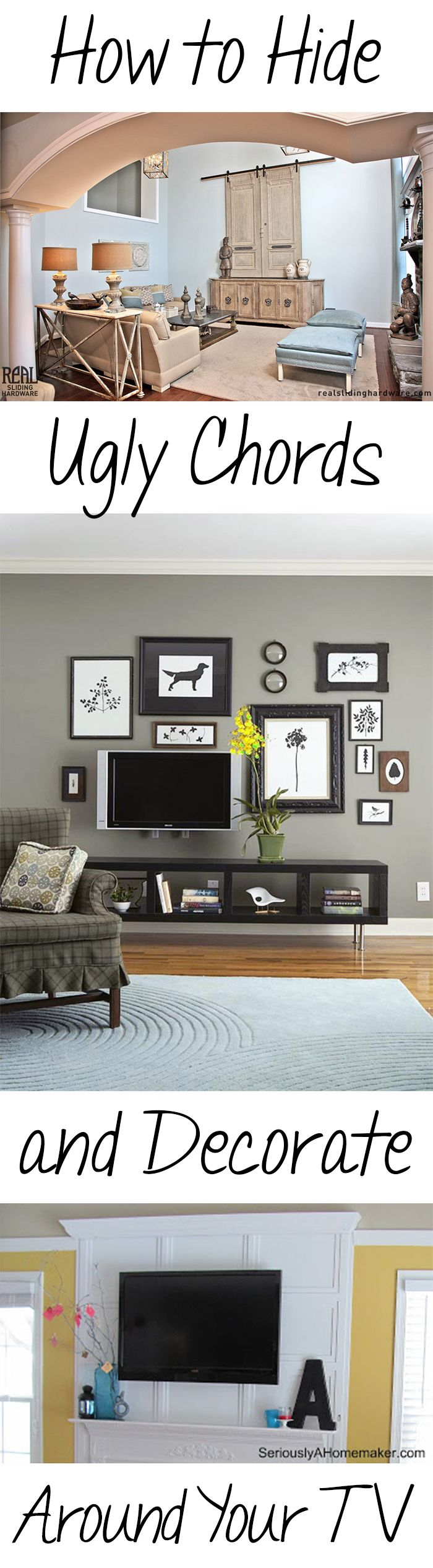 How to Hide Ugly Chords and Decorate Around Your TV | Home Decor ...