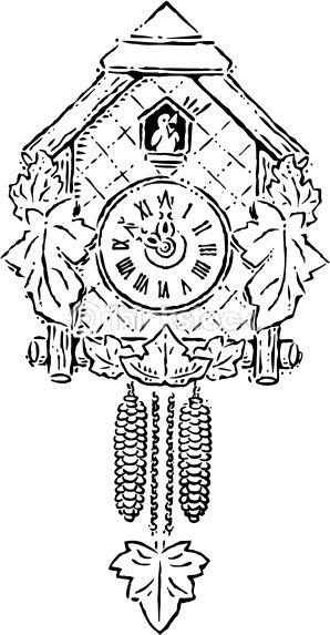 Vector Art A Cuckoo Clock Striking Ten Oclock