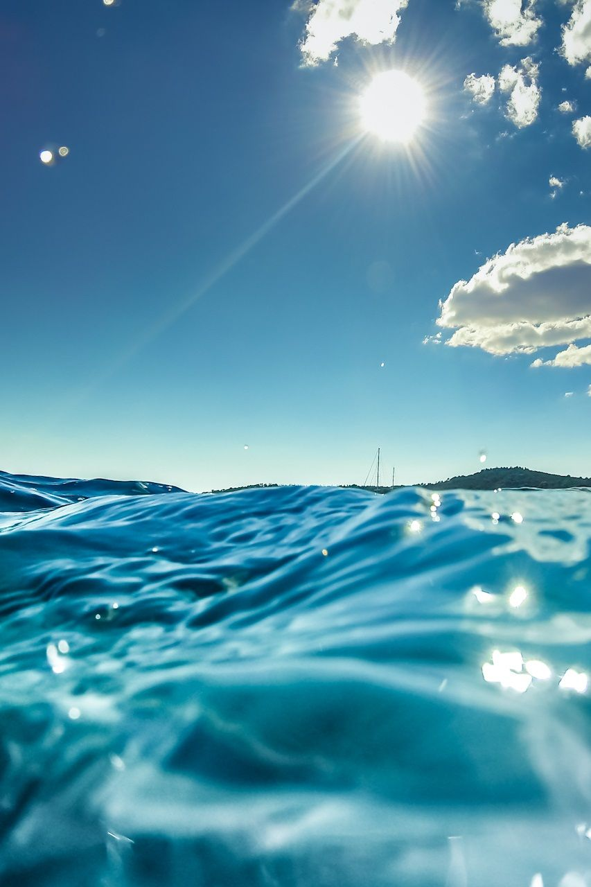 blue sky & ocean ☆ find more summer themed wallpapers for your