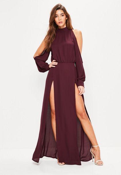 Dress Side Split Maxi Dress Wheretoget Fiction Pinterest