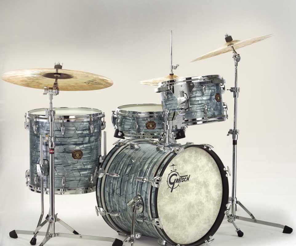 gretsch drums usa custom vintage bop kit sky blue pearl drums percussions guitare batterie. Black Bedroom Furniture Sets. Home Design Ideas