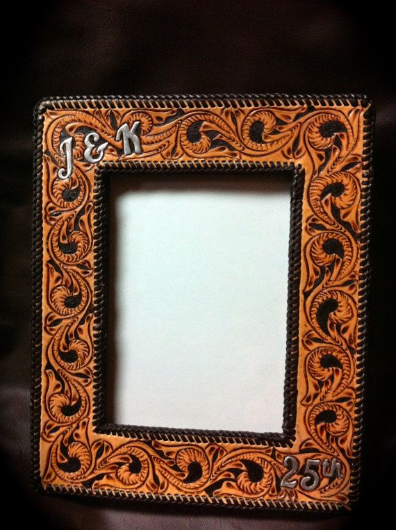 Handmade tooled leather picture frame clickincowgirls handmade tooled leather picture frame clickincowgirls sciox Image collections