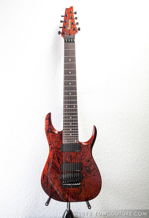 Dino Cazares Custom Ibanez 8 String Guitar Pinterest Ibanez