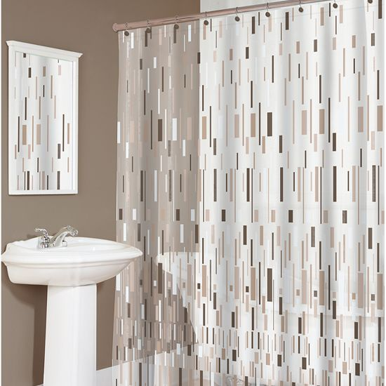 The Bars Eva shower curtain is ecofriendly and PVC free. 100 ...