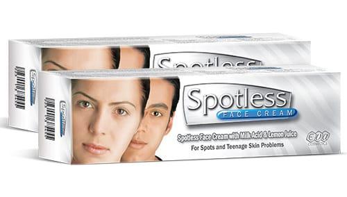 كريم سبوتلس لتفتيح البشرة و إزالة البقع السوداء مراجعة كاملة Face Cream Skin Problems Cream