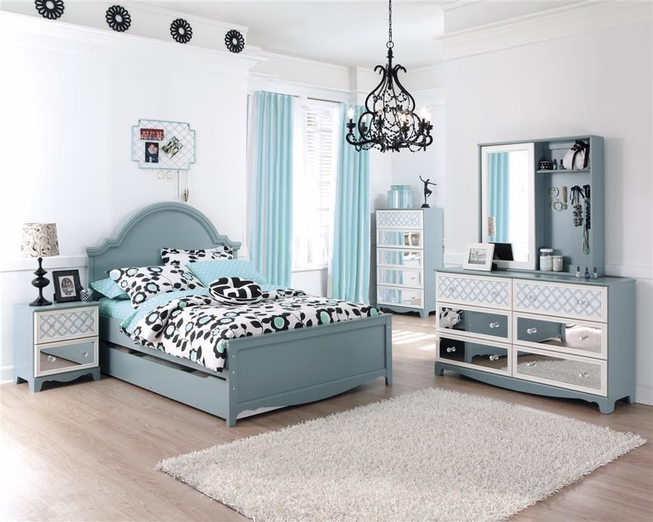 Tiffany blue teen bedroom ideas tiffany turquoise blue girls kids french inspired bed bedroom - Furniture for teenage girl bedroom ...