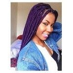 Box #braids with Color | 30 Colored Box Braids Styles #Braids africanas color #Braids africanas color