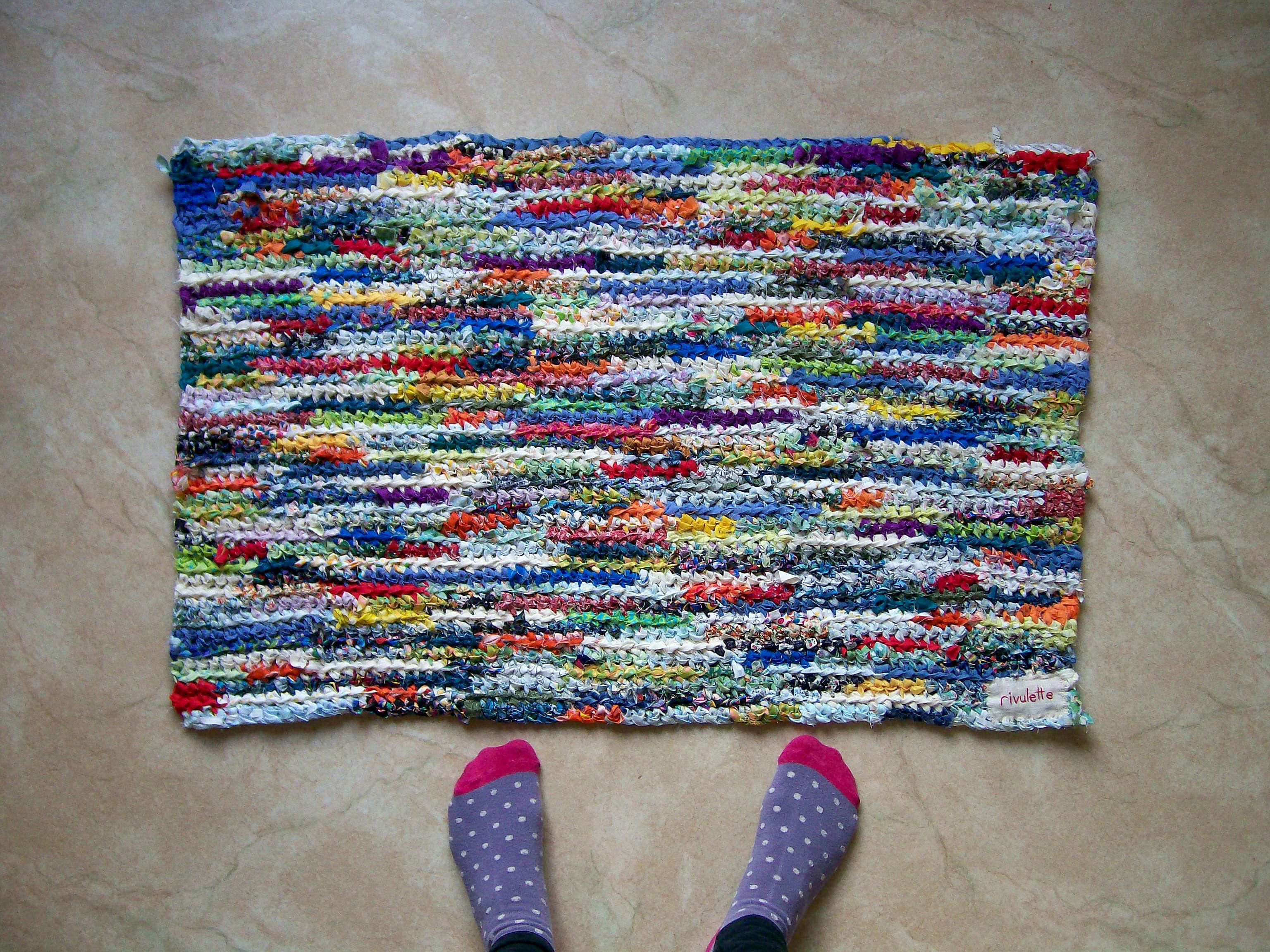 Rainbow Fabric Strip Rag Rug Rag Rug Fabric Strips Handmade Crochet