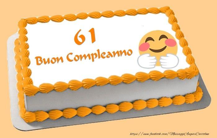 Buon Compleanno 61 anni Torta | Yellow | Pinterest | Compleanno