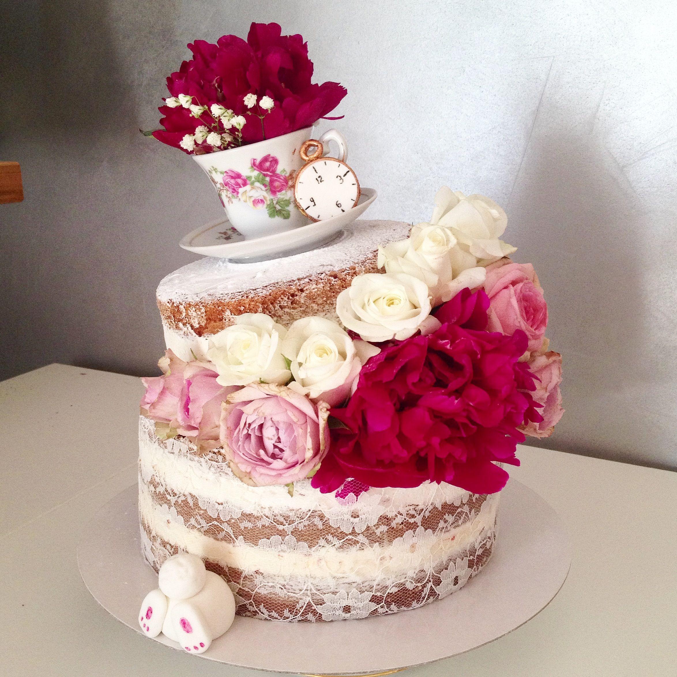 Alice In Wonderland Naked Cake