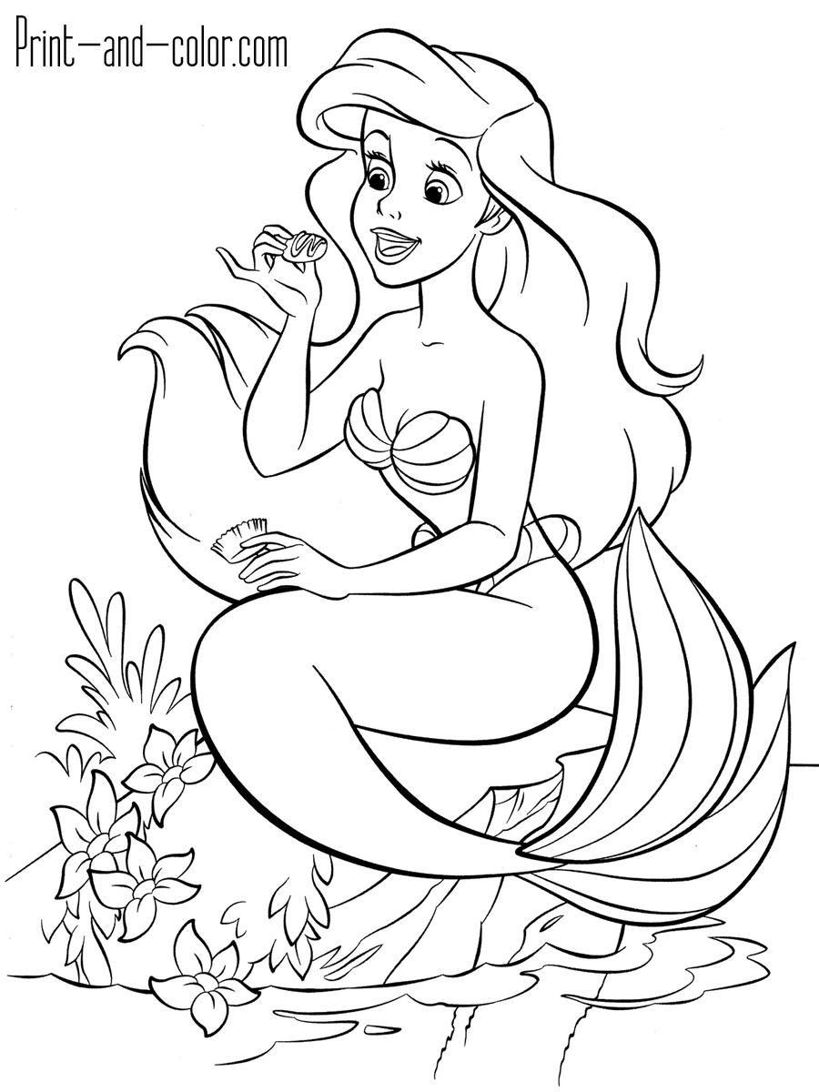 16 Coloring Page Little Mermaid Mermaid Coloring Ariel Coloring Pages Disney Princess Coloring Pages
