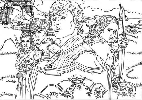 Awesome Chronicles Of Narnia Coloring Page Jpg 600 424