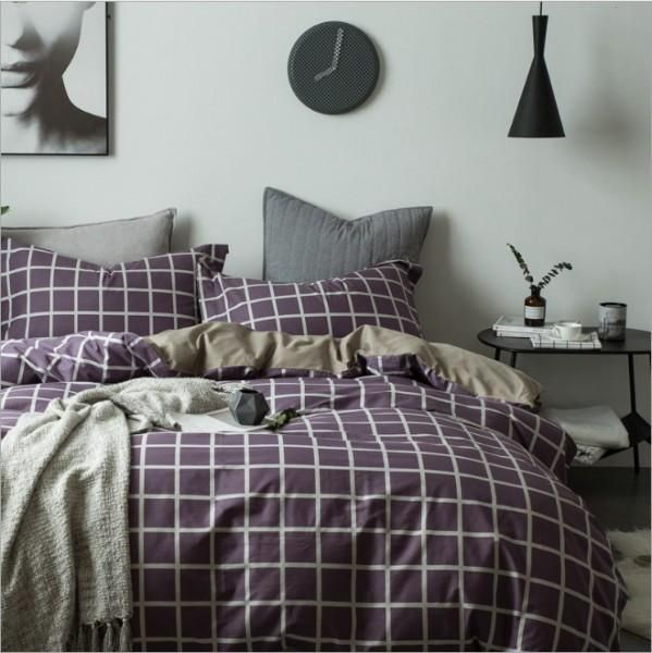 Top 30 Masculine Bedroom Part 2: Quilt Cover Set Check Amber 4Pce Set