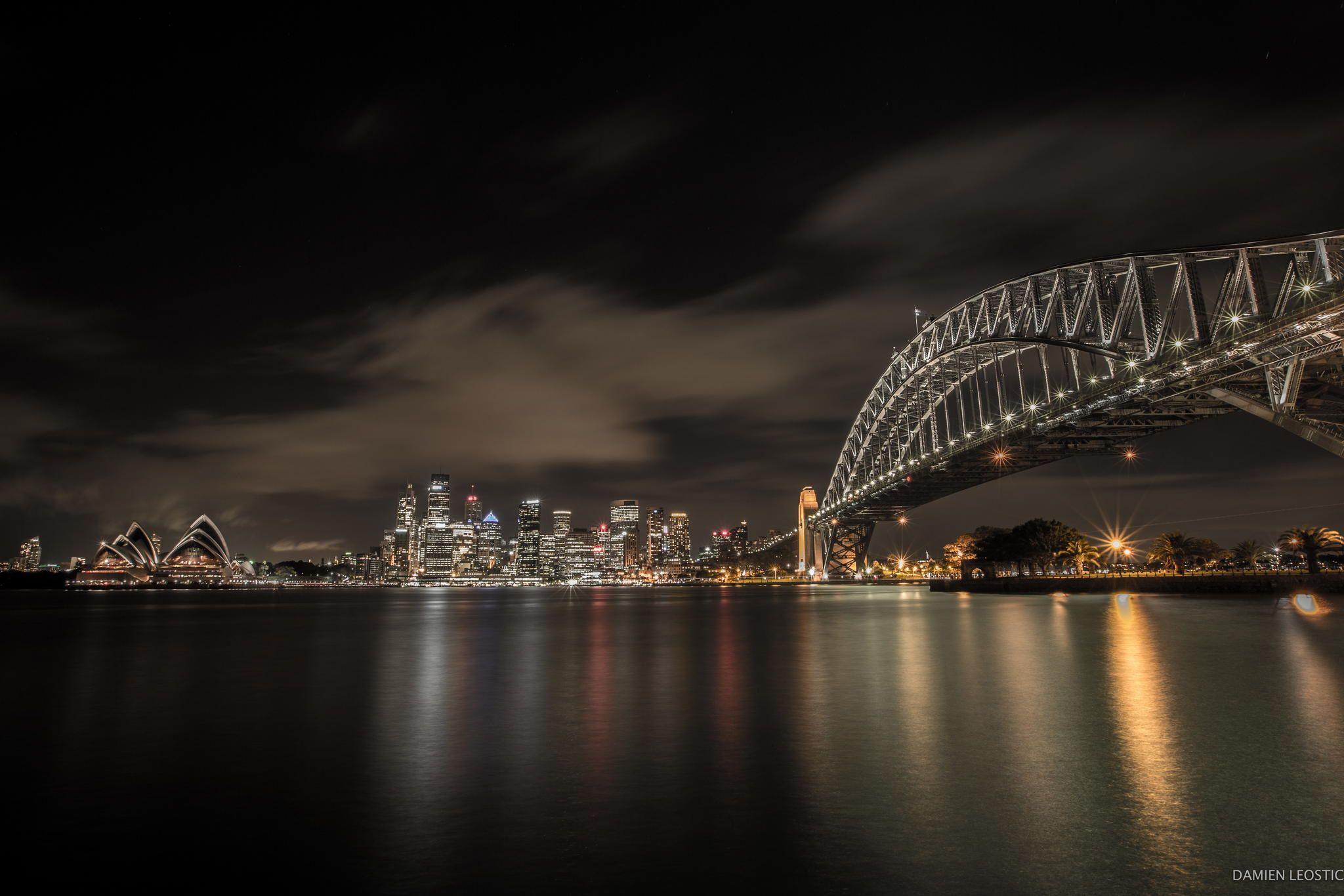 Sydney Harbor by night by Damien Leostic on px  sydney