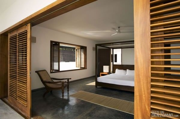 Kota Stone Floor With Images Louvered Interior Doors Kerala House Design Canopy Bedroom