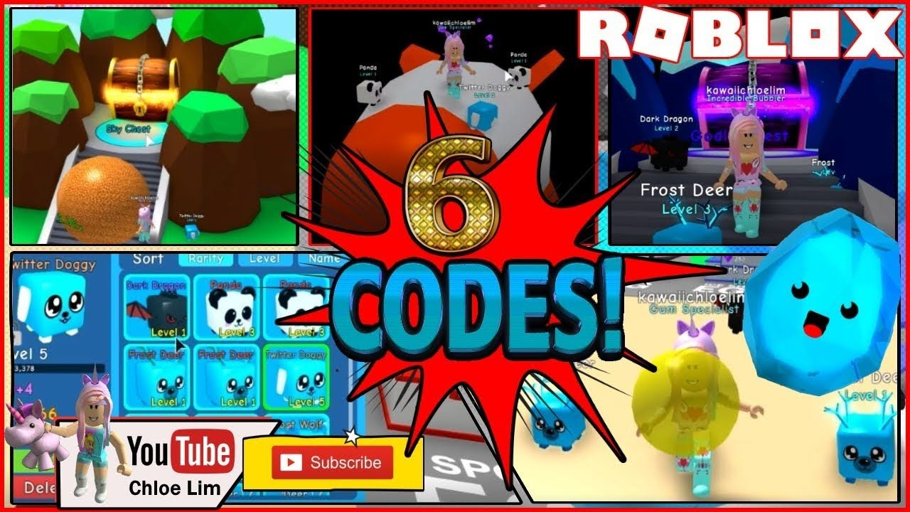 Roblox Bubble Gum Simulator Codes 2019 List Roblox Code Free Robux 2019 Roblox Bubble Gum Simulator 6 Codes First Time Playing Almost Reache Roblox Coding Roblox Codes