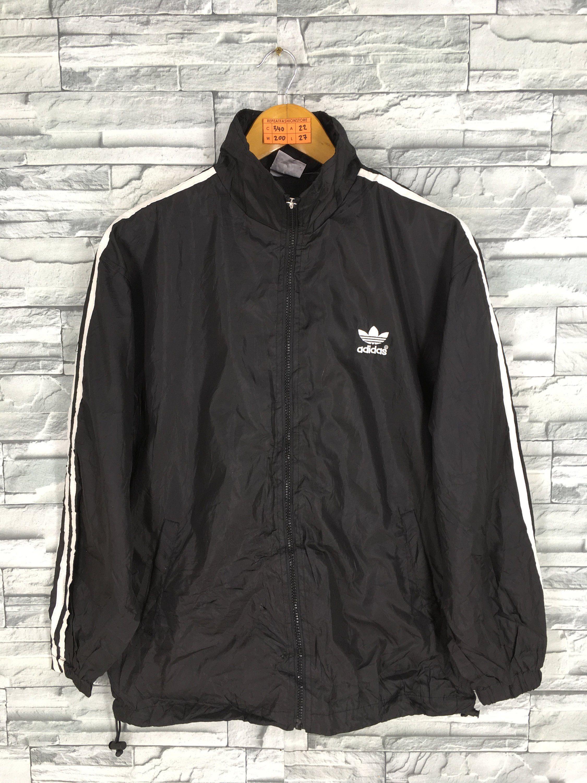 Vintage ADIDAS TREFOIL Windbreaker Jacket Medium 90s Adidas