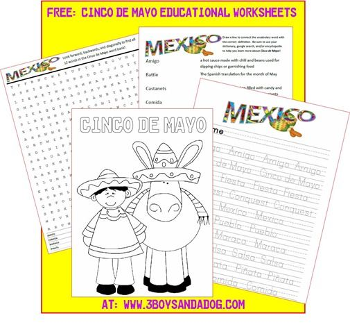 free printable cinco de mayo activities for kids cokefiesta - Free Printable Kids Activities
