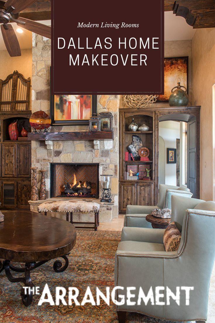 dallas home makeover in 2020  western living room decor